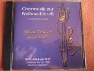 Chormusik zur Weihnachtszeit MGV Glückauf 1929 Bochum